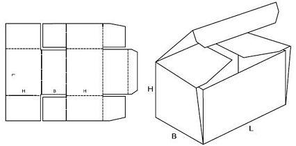 Katalog FEFCO - wzór opakowania nr 443