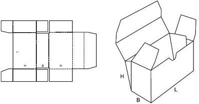 Katalog FEFCO - wzór opakowania nr 444
