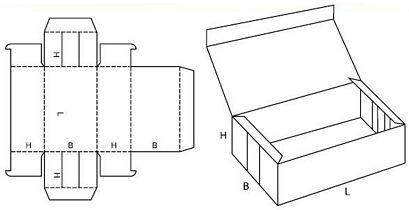 Katalog FEFCO - wzór opakowania nr 445
