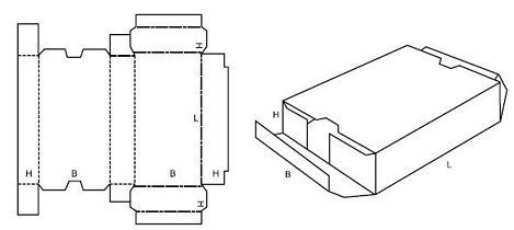 Katalog FEFCO - wzór opakowania nr 447