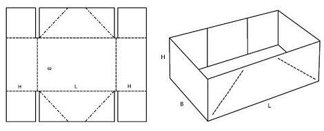 Katalog FEFCO - wzór opakowania nr 451