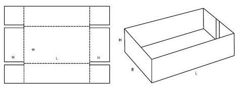 Katalog FEFCO - wzór opakowania nr 453