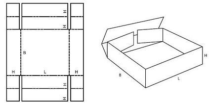Katalog FEFCO - wzór opakowania nr 455