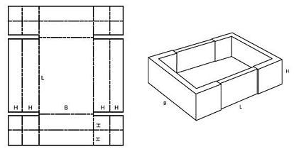 Katalog FEFCO - wzór opakowania nr 456