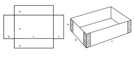 Katalog FEFCO - wzór opakowania nr 458