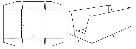 Katalog FEFCO - wzór opakowania nr 460