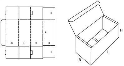 Katalog FEFCO - wzór opakowania nr 470
