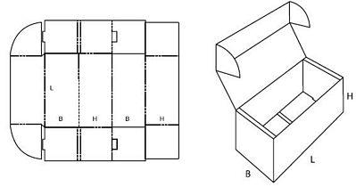 Katalog FEFCO - wzór opakowania nr 471