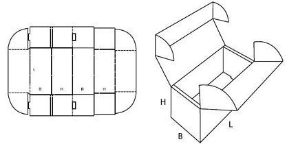 Katalog FEFCO - wzór opakowania nr 472