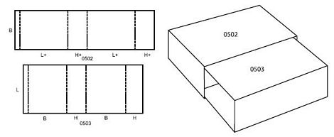 Katalog FEFCO - wzór opakowania nr 505