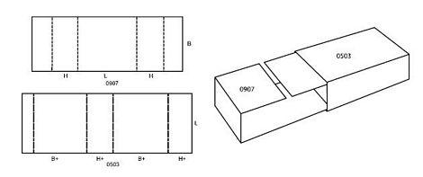 Katalog FEFCO - wzór opakowania nr 509