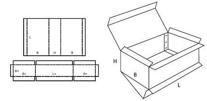Katalog FEFCO - wzór opakowania nr 512
