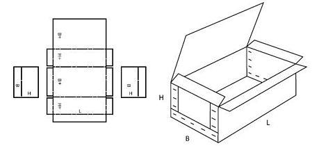 Katalog FEFCO - wzór opakowania nr 601