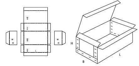 Katalog FEFCO - wzór opakowania nr 602
