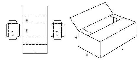 Katalog FEFCO - wzór opakowania nr 605