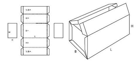 Katalog FEFCO - wzór opakowania nr 606