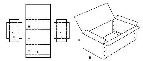Katalog FEFCO - wzór opakowania nr 607