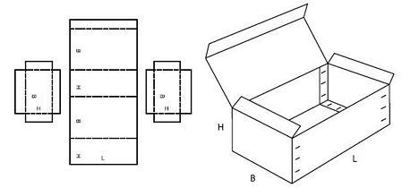 Katalog FEFCO - wzór opakowania nr 608