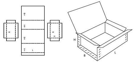 Katalog FEFCO - wzór opakowania nr 610