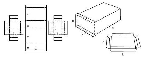 Katalog FEFCO - wzór opakowania nr 615