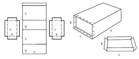 Katalog FEFCO - wzór opakowania nr 616