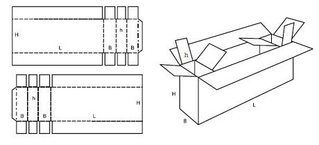 Katalog FEFCO - wzór opakowania nr 621