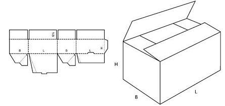Katalog FEFCO - wzór opakowania nr 701