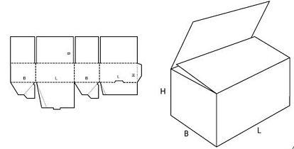 Katalog FEFCO - wzór opakowania nr 703