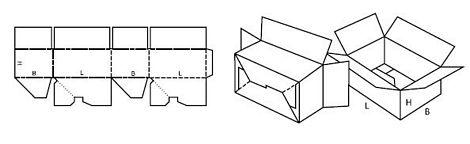 Katalog FEFCO - wzór opakowania nr 711
