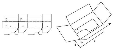 Katalog FEFCO - wzór opakowania nr 712