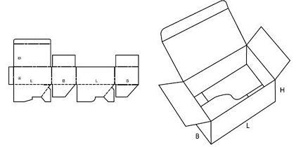 Katalog FEFCO - wzór opakowania nr 713