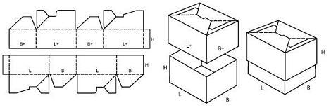 Katalog FEFCO - wzór opakowania nr 714