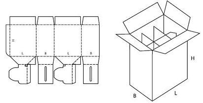 Katalog FEFCO - wzór opakowania nr 715