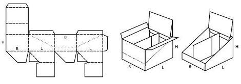 Katalog FEFCO - wzór opakowania nr 716