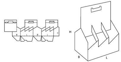 Katalog FEFCO - wzór opakowania nr 717