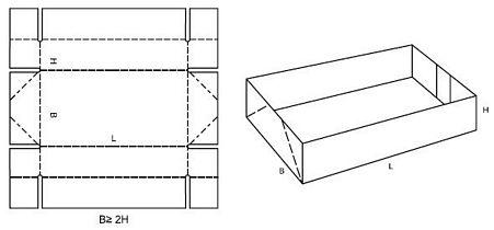 Katalog FEFCO - wzór opakowania nr 718