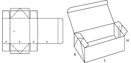 Katalog FEFCO - wzór opakowania nr 748