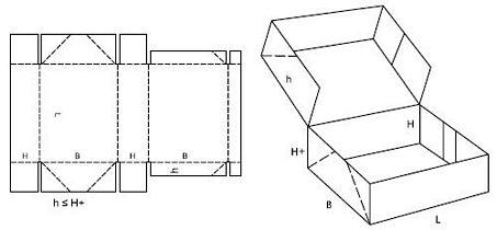 Katalog FEFCO - wzór opakowania nr 761