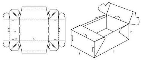 Katalog FEFCO - wzór opakowania nr 773